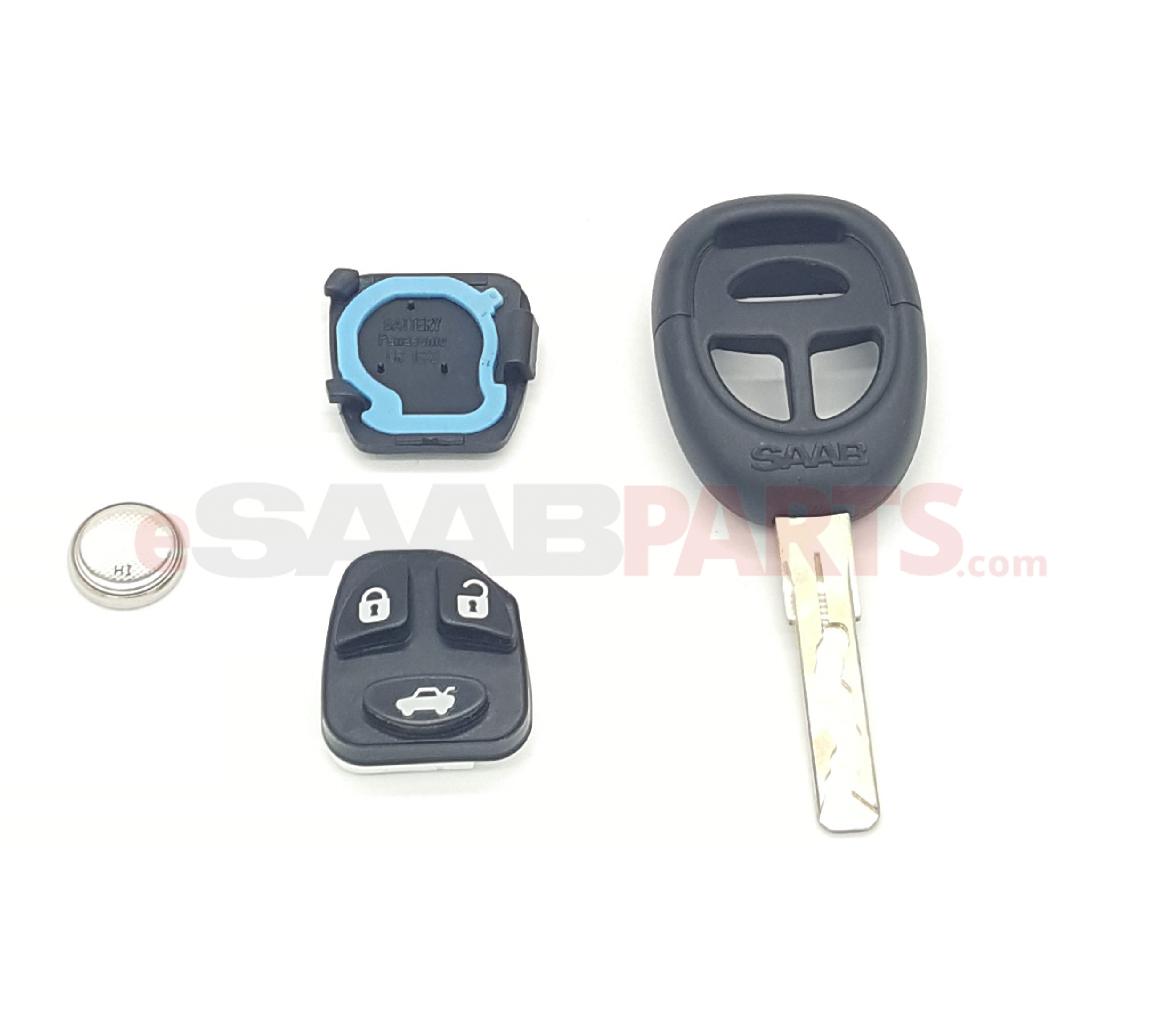 Cut Key Kit w/ Transmitter [USED] Saab 9-5 99-09, 9-3 99-03