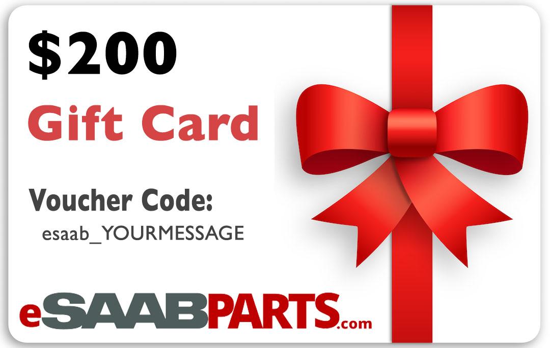 eSaabParts.com Gift Certificate - 200.00 USD