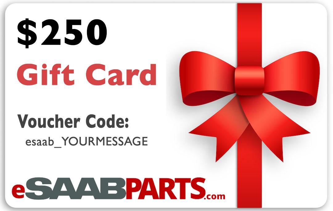eSaabParts.com Gift Certificate - 250.00 USD