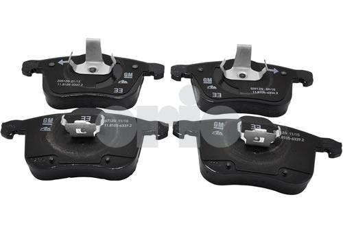 Brake Pad Kit, Front 314mm - CODE: AC (16+) 2003-2006